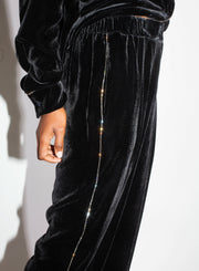 N°21| Velvet Pant with Crystals