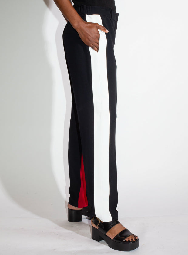 N°21 | Pant with Red and White Striped Sides