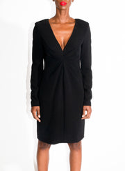 MOSCHINO | V Neck Dress in Black