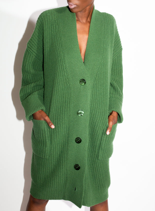 MOSCHINO | Oversized Cardigan in Green