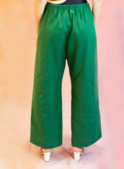 DRIES VAN NOTEN | Puvis Casual Cotton Paper Pant in Green