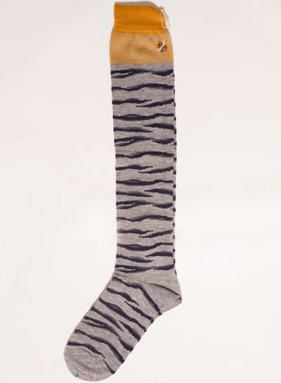 ANTIPAST | High Tiger & Bee Sock in Grey