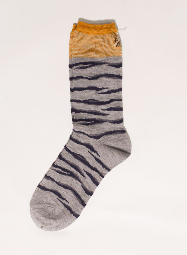ANTIPAST | Tiger & Bee Sock in Grey