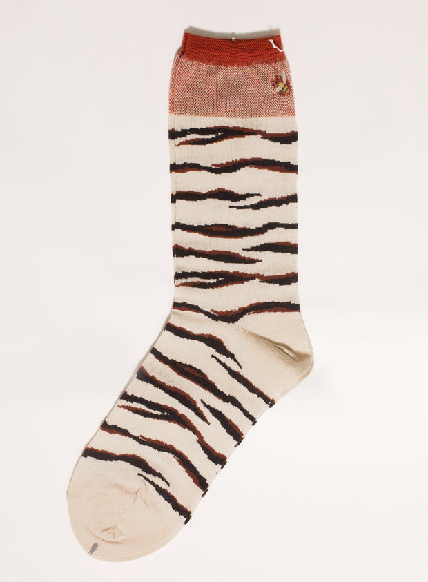 ANTIPAST | Tiger & Bee Sock in Ivory