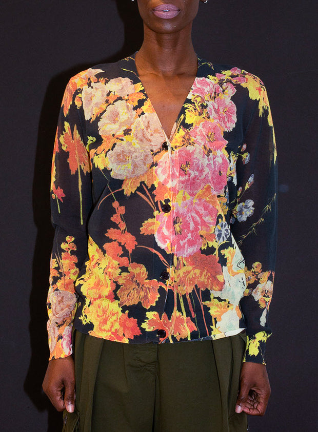 DRIES VAN NOTEN | Floral Cardigan Sweater