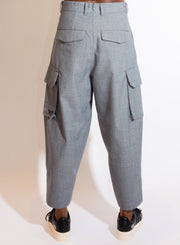 Y-3 | Winter Wool Cargo Pant in Grey