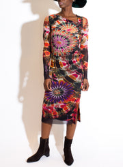 FUZZI | Print Dress in Nero