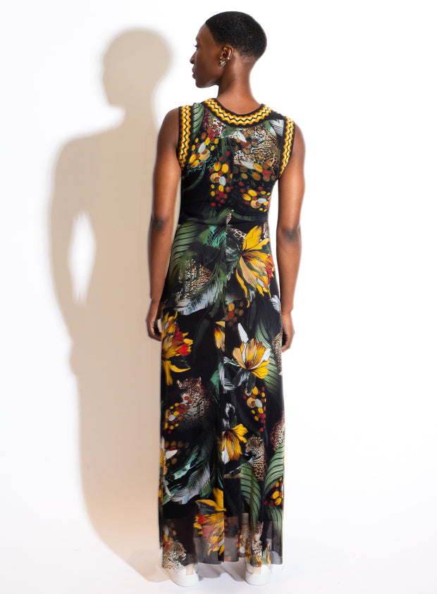 FUZZI | Long Dress in Verde