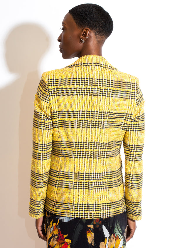 HELENE BERMAN | Blazer in Yellow & Black Check