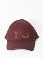 Y3 | Classic Logo Hat in Night Red