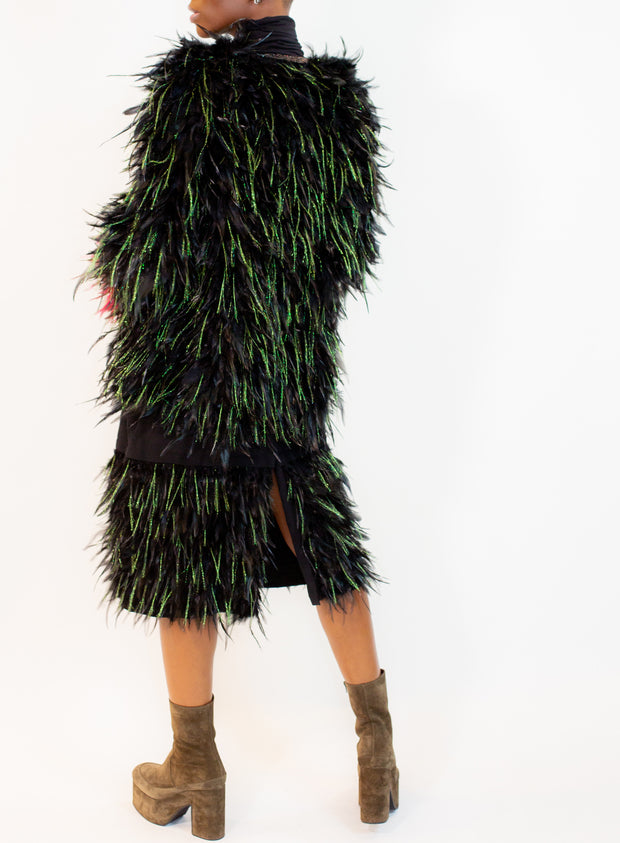 DRIES VAN NOTEN | Feather Skirt