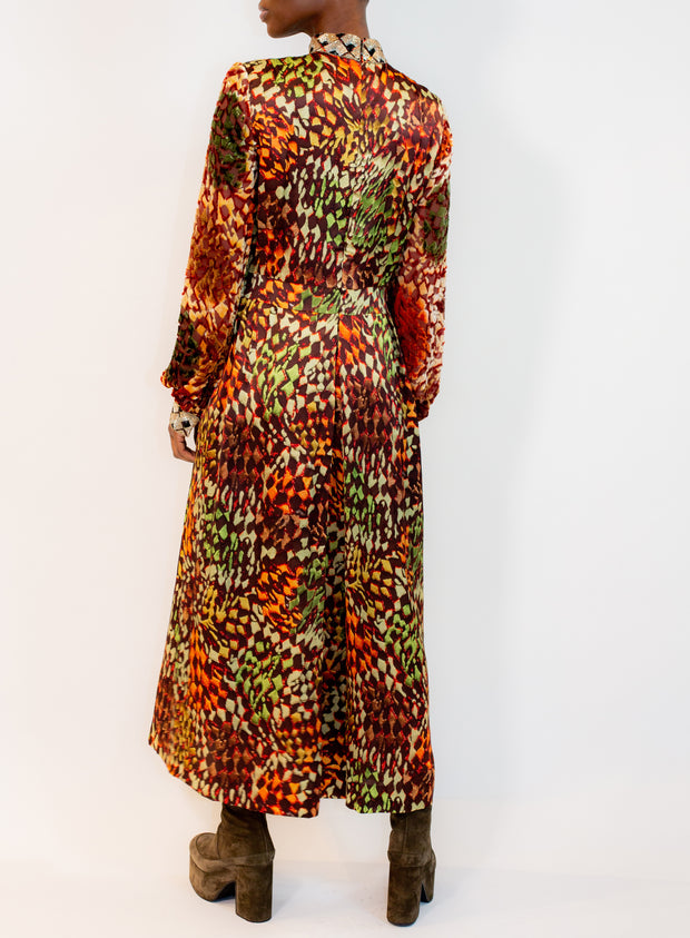 DRIES VAN NOTEN | High Neck Dress in Rust