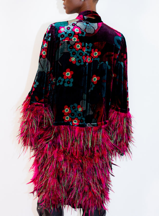 DRIES VAN NOTEN | Button Down Dress with Feather Detail