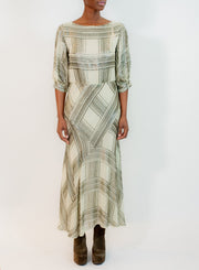 DRIES VAN NOTEN | 3/4 Plaid Beaded Dress