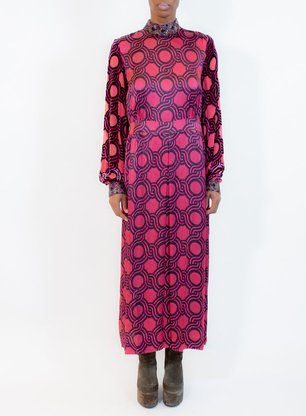 DRIES VAN NOTEN | High Neck Dress in Fuschia