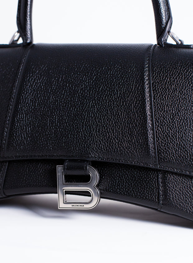 BALENCIAGA | Hourglass Top Handle Small Bag in Black