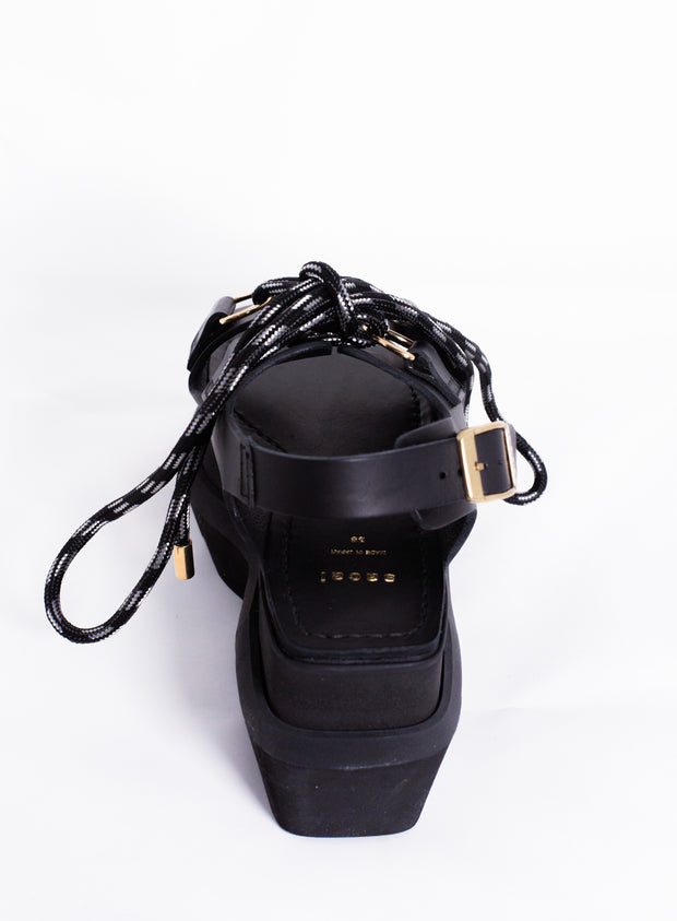 SACAI | Lace Up Platform Sandal