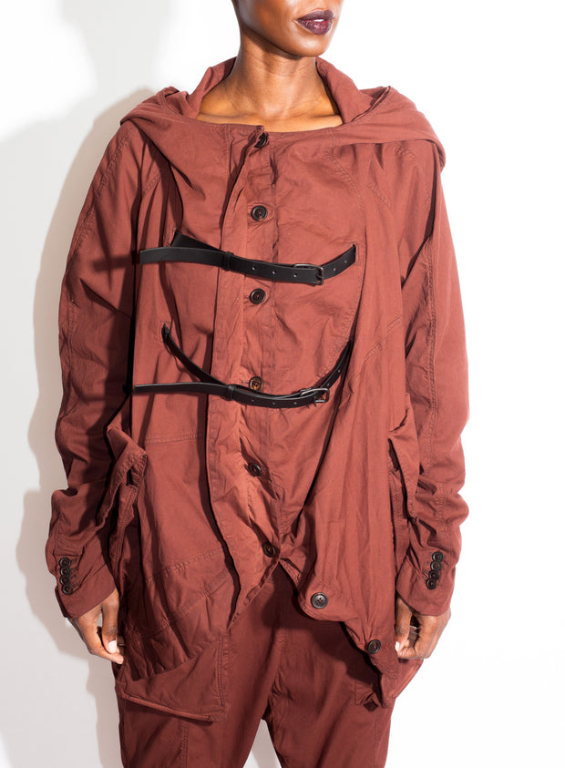 RUNDHOLZ | Hooded Buckle Jacket