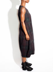 RUNDHOLZ | Sleeveless Dress in Merlot Check