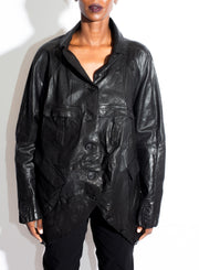 RUNDHOLZ | Leather Jacket in Black