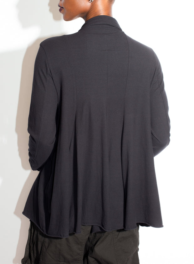RUNDHOLZ | Black Button Top