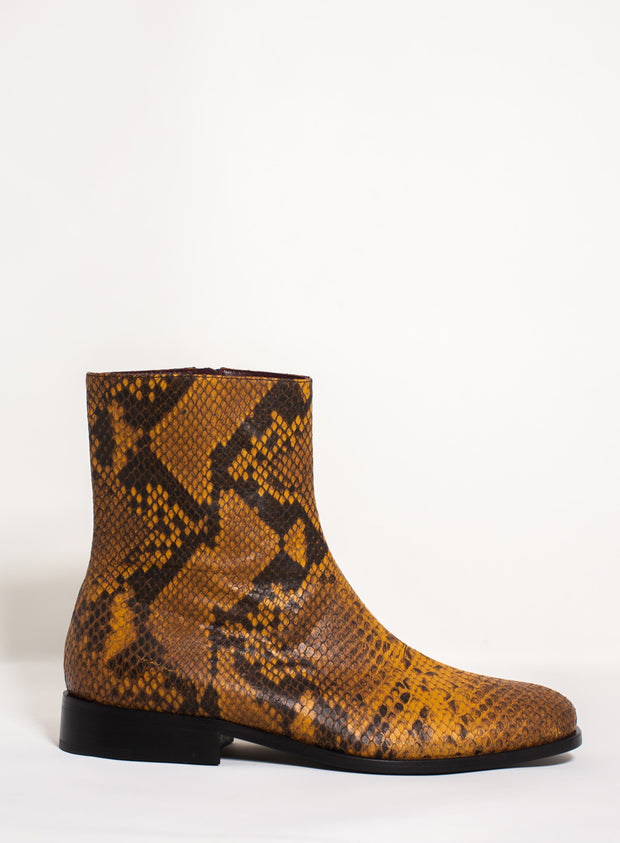 DRIES VAN NOTEN | Flat Animal Print Boot