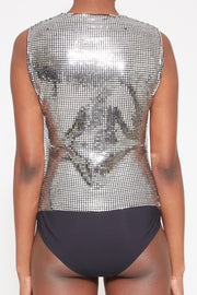MM6 | Disco Ball Bodysuit