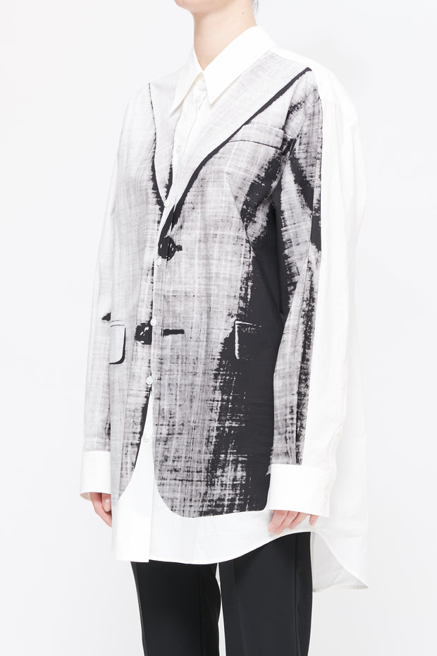 MM6 | Oversized Jacket Print Shirt