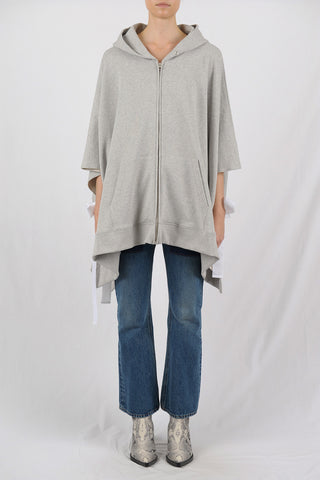 MM6 by Maison Margiela | Terry Open-Side Poncho Hoodie