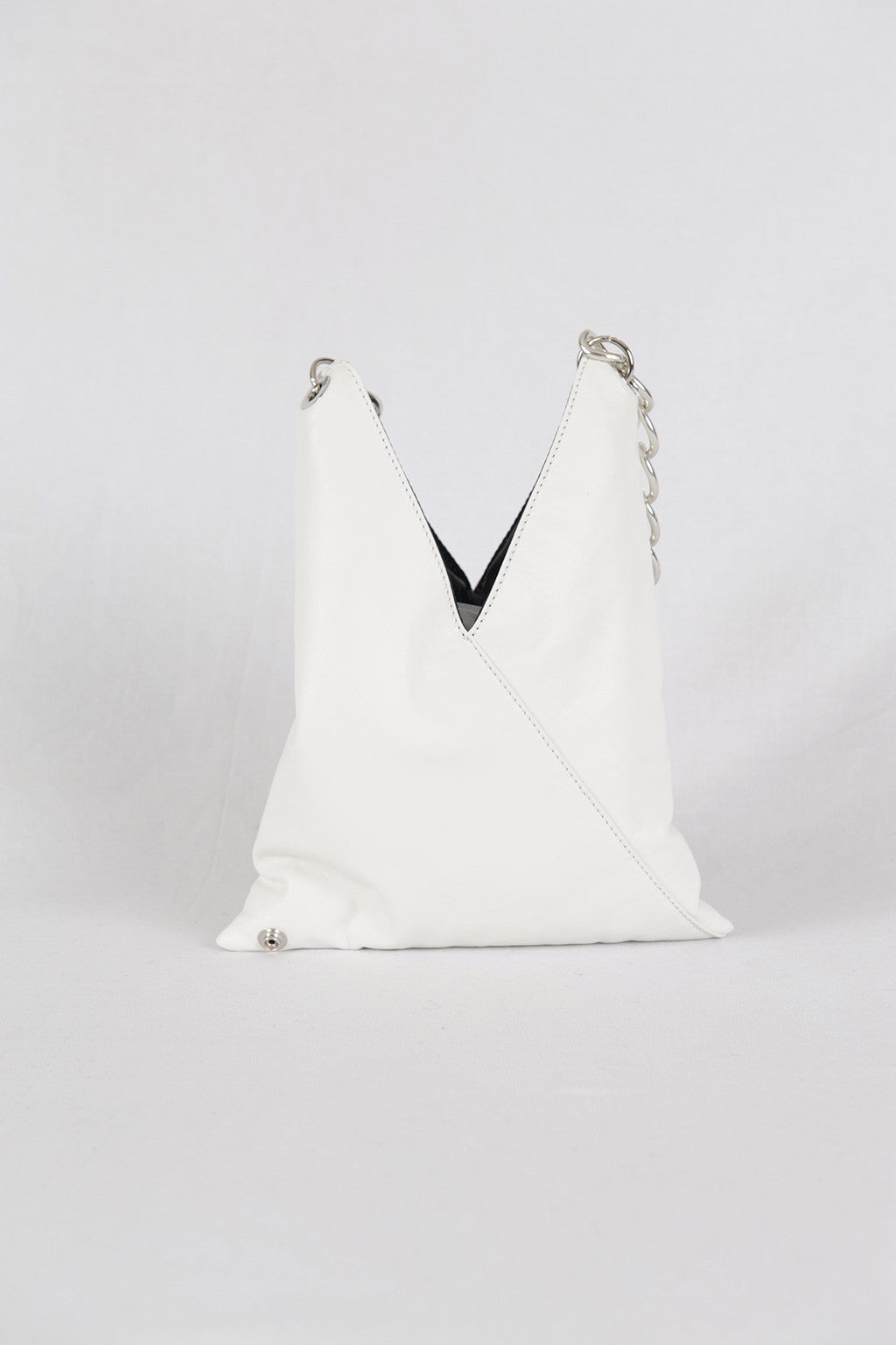MM6 by Maison Margiela| White Faux-Leather Crossbody