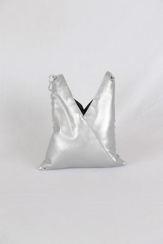 MM6 by Maison Margiela |Silver Faux-Leather Crossbody