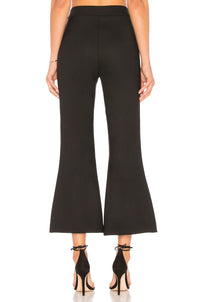 SMYTHE | Cropped Kick Flare Pants in Black
