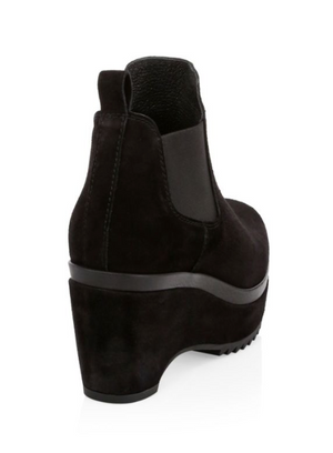 PEDRO GARCIA | Faustine Platform Ankle Boot in Black Suede