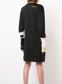 CALVIN KLEIN 205W39NYC | Long Sleeve Colorblock Contrast Stripe Day Dress