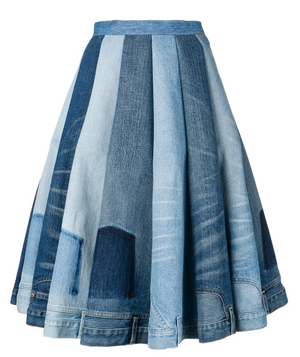 JUNYA WATANABE | Mixed Denim Full Skirt
