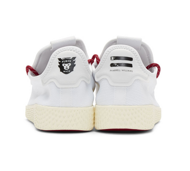 HUMAN MADE x ADIDAS | Pharrell Williams Tennis Hu Sneakers with Red Heart