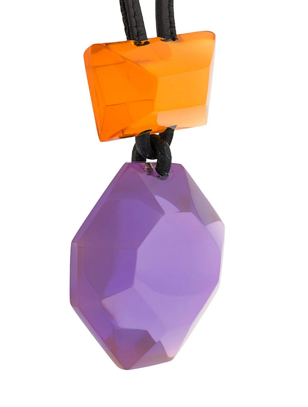 MONIES | Madison Pendant Necklace in Orange/Purple