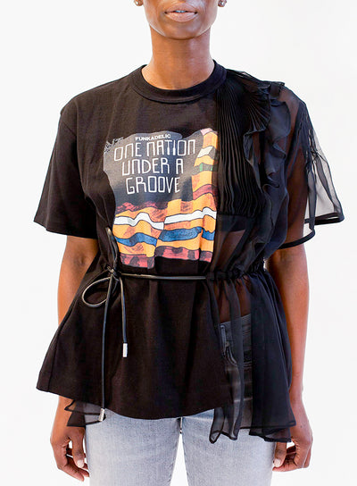 SACAI | Funkadelic Sheer Panel Graphic T-Shirt