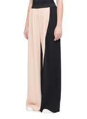 MM6 | Split Color Wide Leg Pant