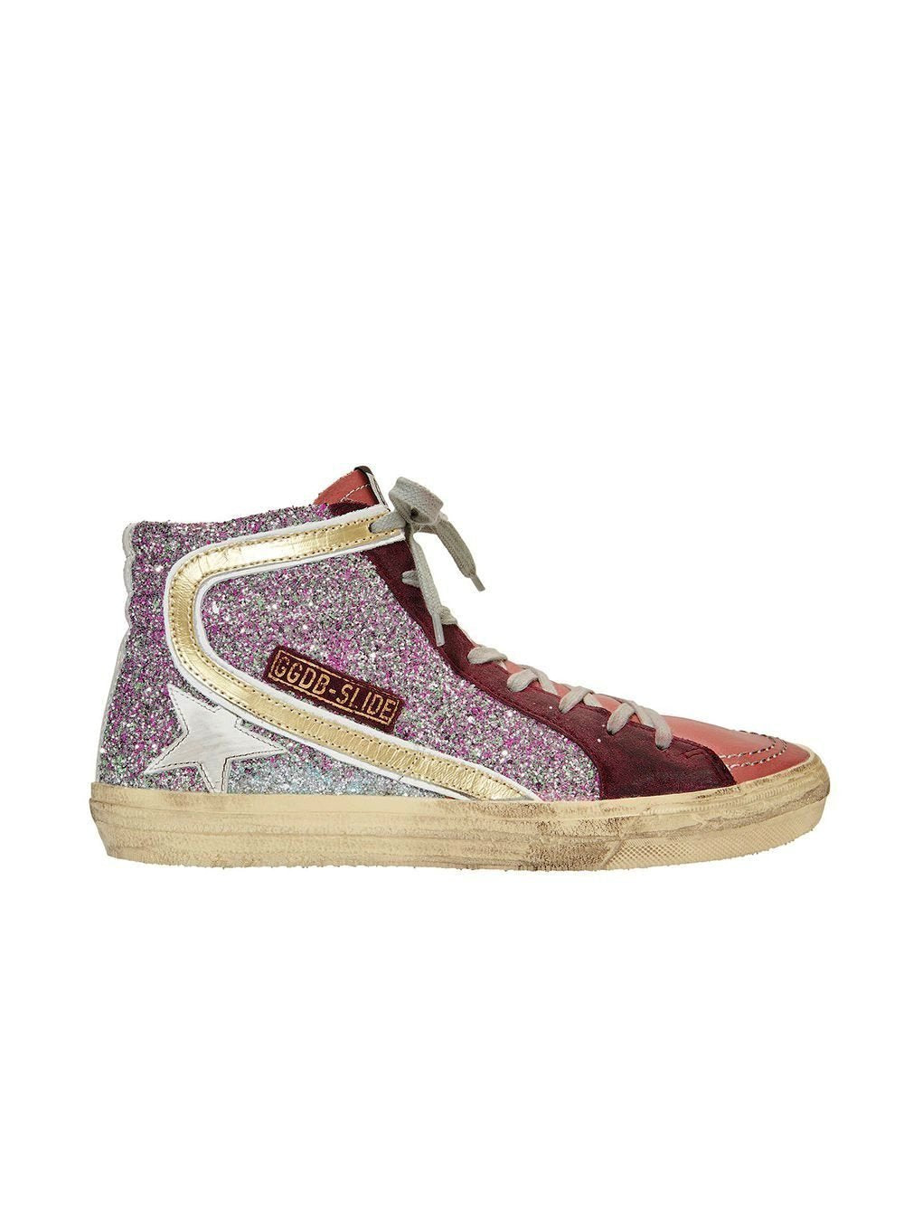 GOLDEN GOOSE | Cyclamin Glitter White Star Sneaker