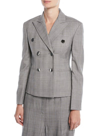 CALVIN KLEIN 205W39NYC | Double-Breasted Wall Street Blazer In Check Wool