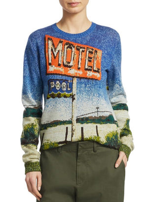 "N°21 | ""Motel"" Graphic Sweater with Desert Print"