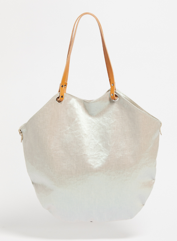 JACK GOMME | Flores Tote Bag in Pearl/Black