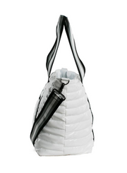 THINK ROYLN | Wingman Bag in White Patent