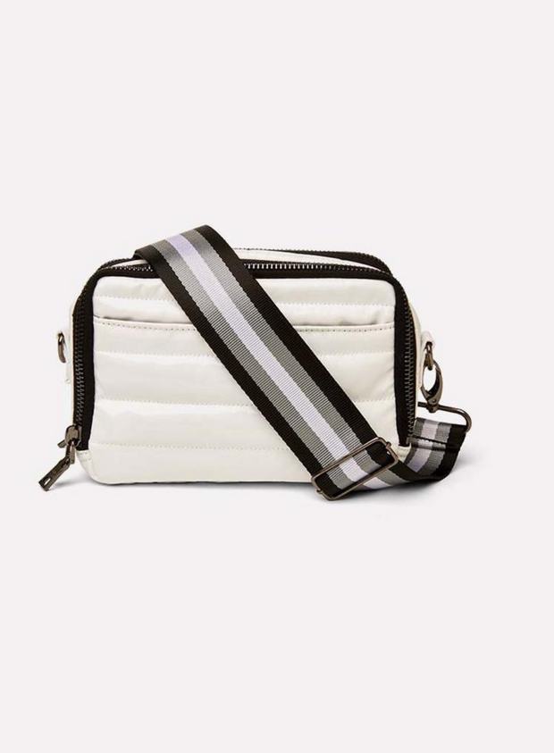 THINK ROYLN | The Diva Double Zip in Patent White