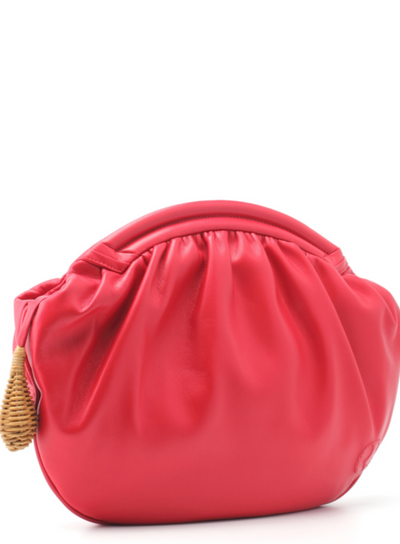 RODO | Millie Ruched Soft Large Clutch in Geranium