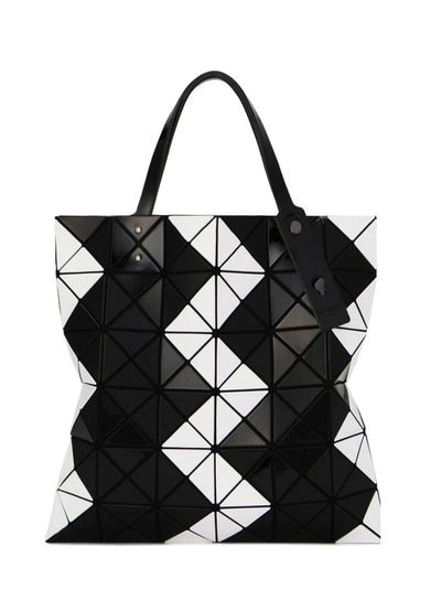 BAO BAO Issey Miyake | Lucent ZigZag Tote in White and Black
