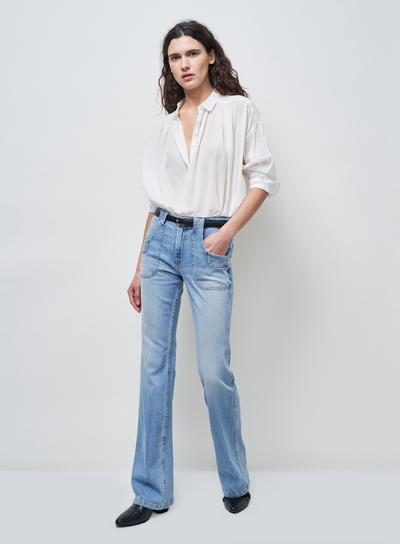 NILI LOTAN | Miles Blouse in White