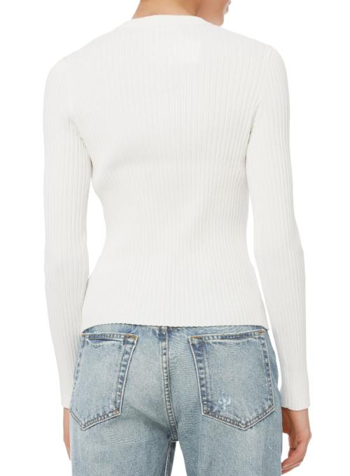 JONATHAN SIMKHAI | Staple Knit Crewneck Sweater in White