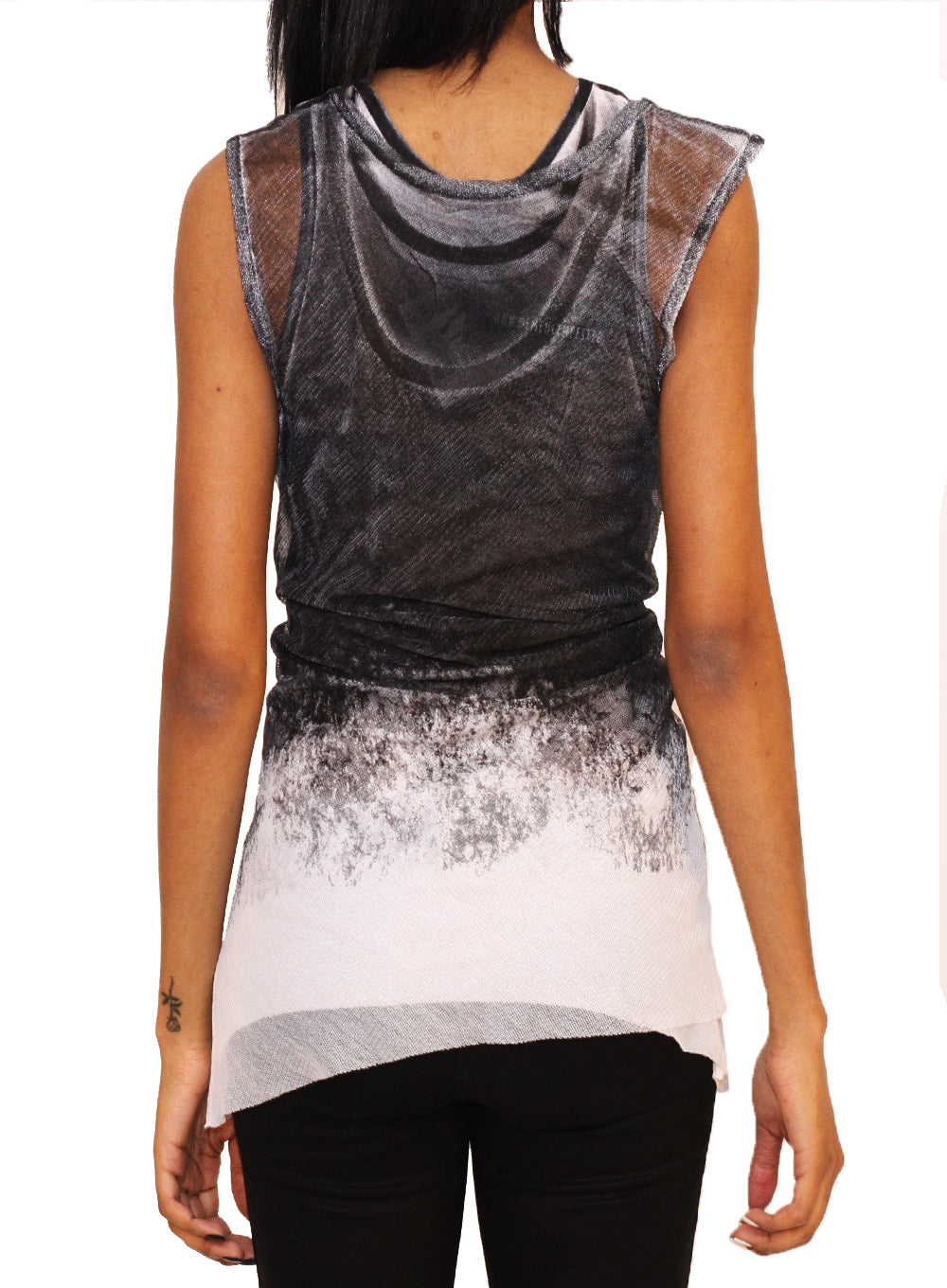 ANN DEMEULEMEESTER | Layered Sheer Mesh Tank Top